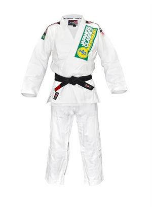 Isami Sachiko Double Weave White BJJ Gi With Patches